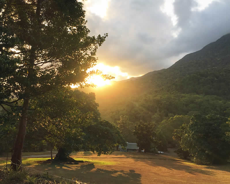 Daintree Rainforest Campground Sunset