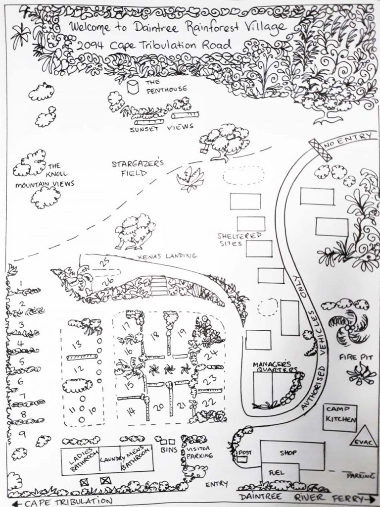 DaintreeRainforestVillage-ParkMap