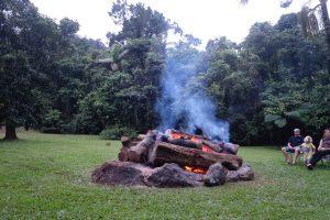 Camp Fire at Daintree rainforest Village